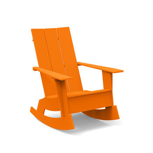 3 Slat Rocking Adirondack Chair